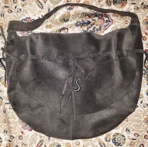 Lucky Brand Suede Shoulder Bag